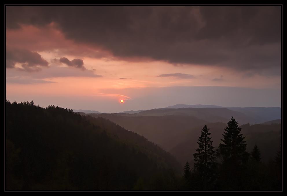 Sonnenuntergang im Südschwarzwald