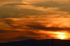 Sonnenuntergang im Taunus am Kl.Feldberg 0287
