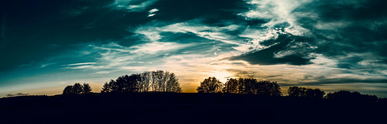 Sonnenuntergang im Wald4tel