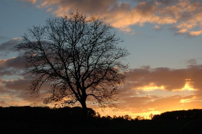 Sonnenuntergang im Walzbachtal