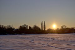 Sonnenuntergang im Winter - Bild 2 (HDR)
