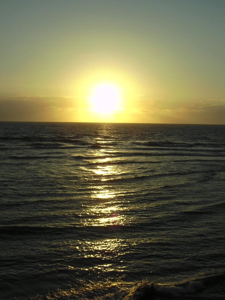 Sonnenuntergang in Aberystwyth