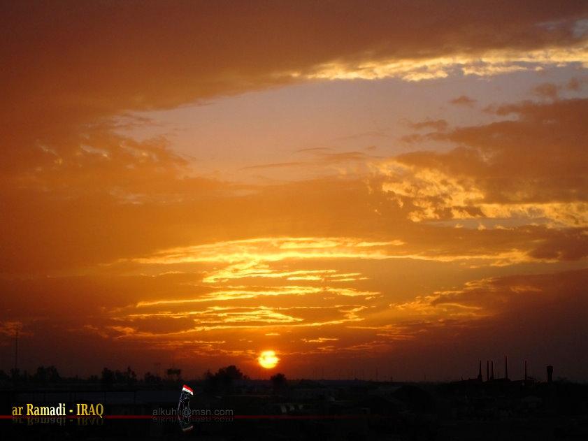 Sonnenuntergang in ar Ramadi