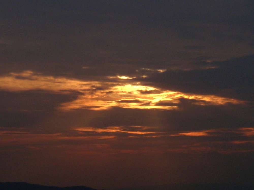 Sonnenuntergang in Assisi