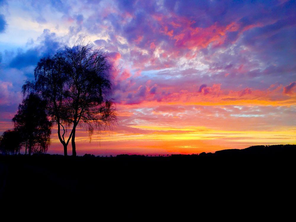Sonnenuntergang in Auhagen