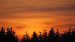 Sonnenuntergang in Aventoft...