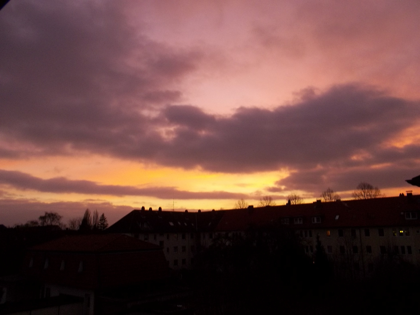 Sonnenuntergang in Badenstedt
