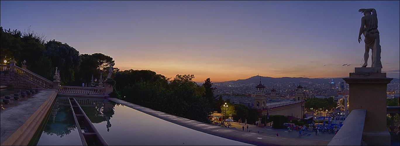 Sonnenuntergang in Barcelona