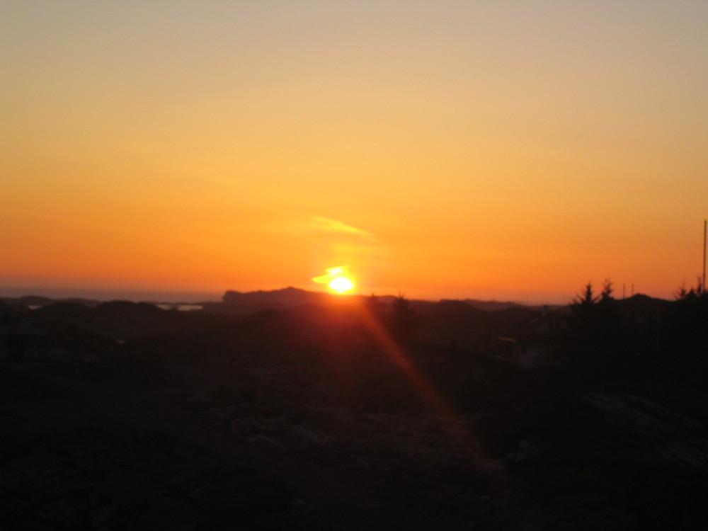 Sonnenuntergang in Bergen.