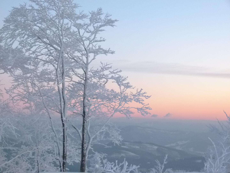 Sonnenuntergang in Beskiden
