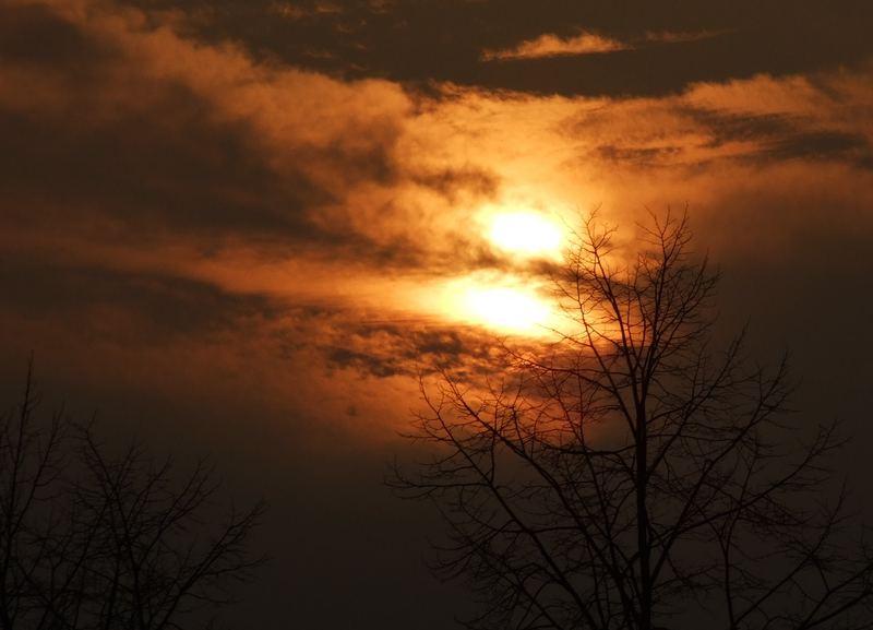 Sonnenuntergang in Bielefeld (Brackwede)