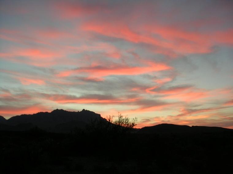 Sonnenuntergang in Big Bend NP