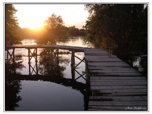 Sonnenuntergang in Bosnien