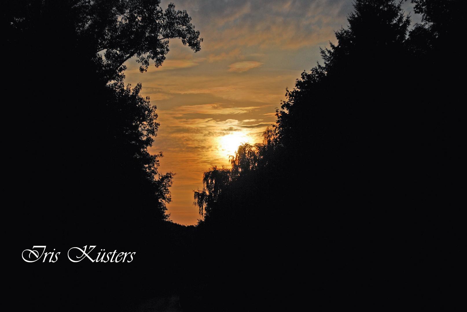 Sonnenuntergang in Brempt