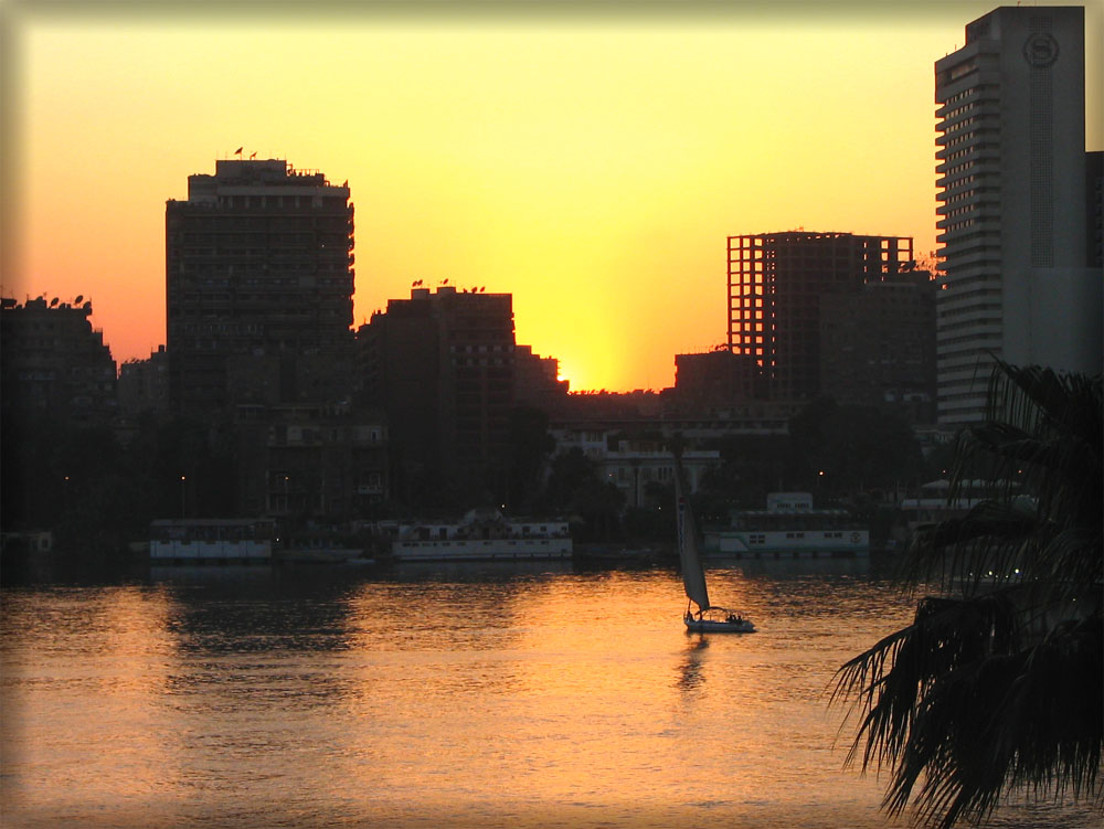 Sonnenuntergang in Cairo