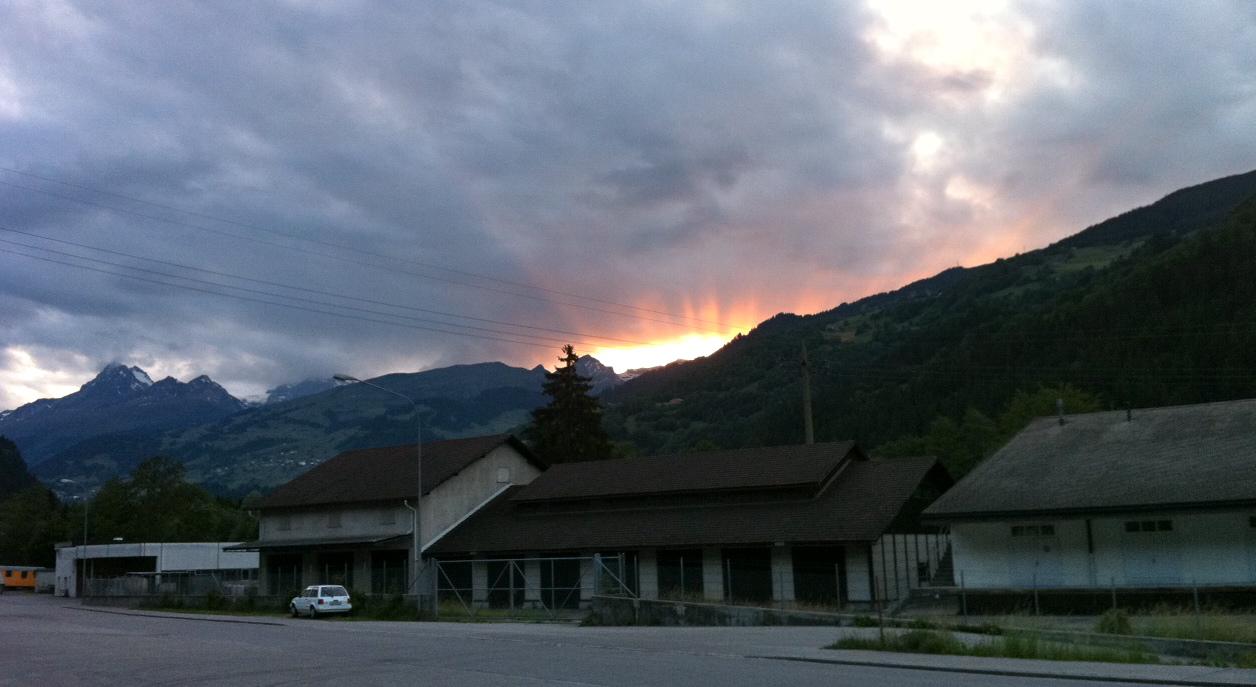 """Sonnenuntergang in """"California""""/Ilanz"""