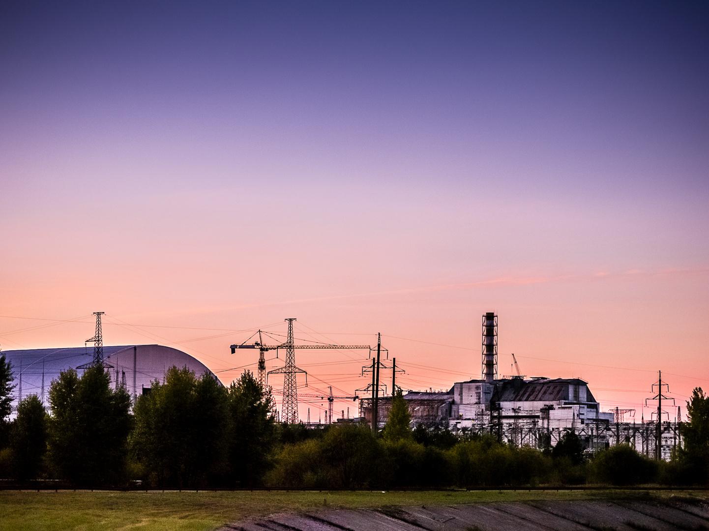 Sonnenuntergang in Chernobyl