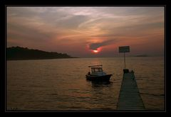 Sonnenuntergang in Cilipi/ Kroatien