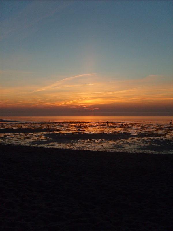 Sonnenuntergang in Cuxhaven