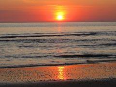Sonnenuntergang in Dänemark / Henne Strand 3