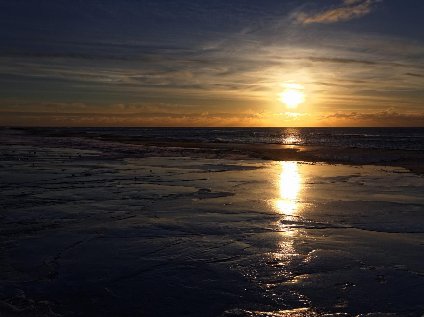 Sonnenuntergang in Dänemark, Januar 2013
