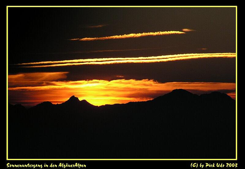 Sonnenuntergang in den Algäuer Alpen