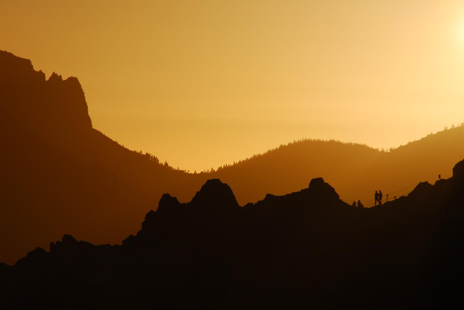 Sonnenuntergang in den Canadas del Teide