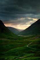 Sonnenuntergang in den Highlands, Scotland