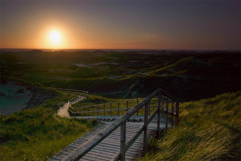 Sonnenuntergang in den Norddorfer Dünen