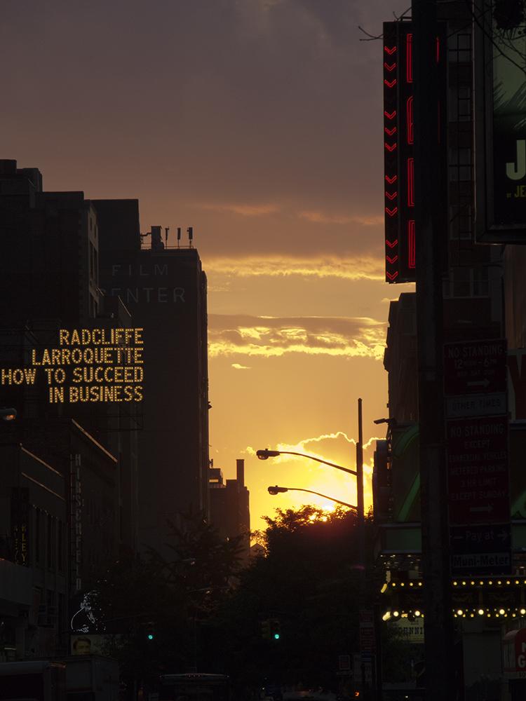 Sonnenuntergang in den Strassen NY's