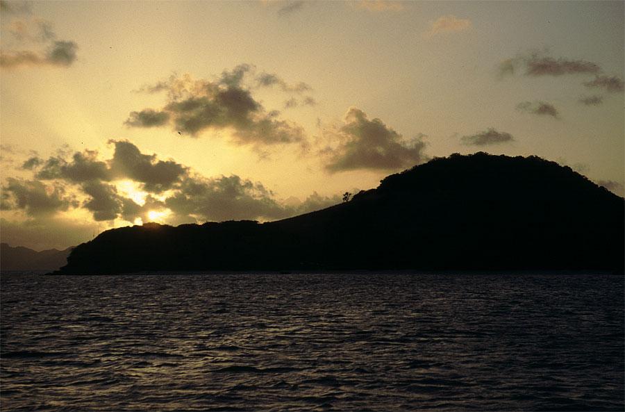 Sonnenuntergang in den Tobago Keys
