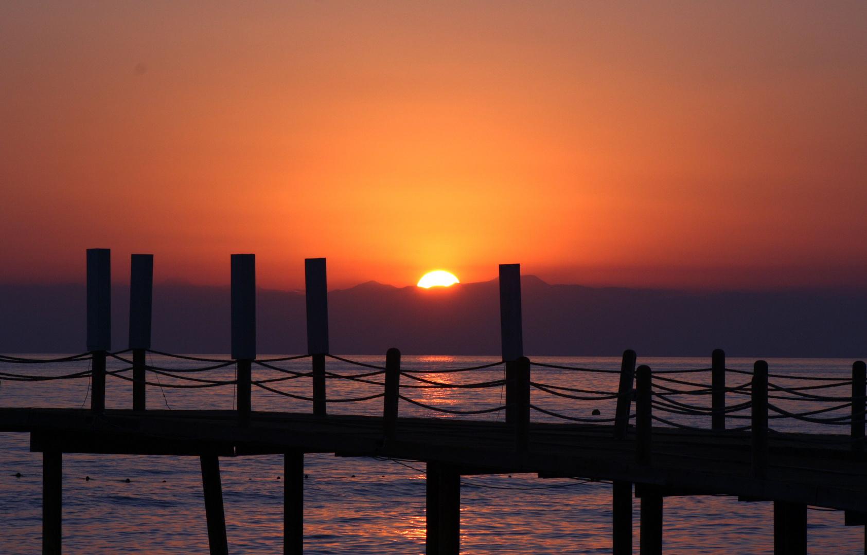 Sonnenuntergang in der Ägäis