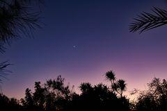 Sonnenuntergang in der Arabischen Wüste.