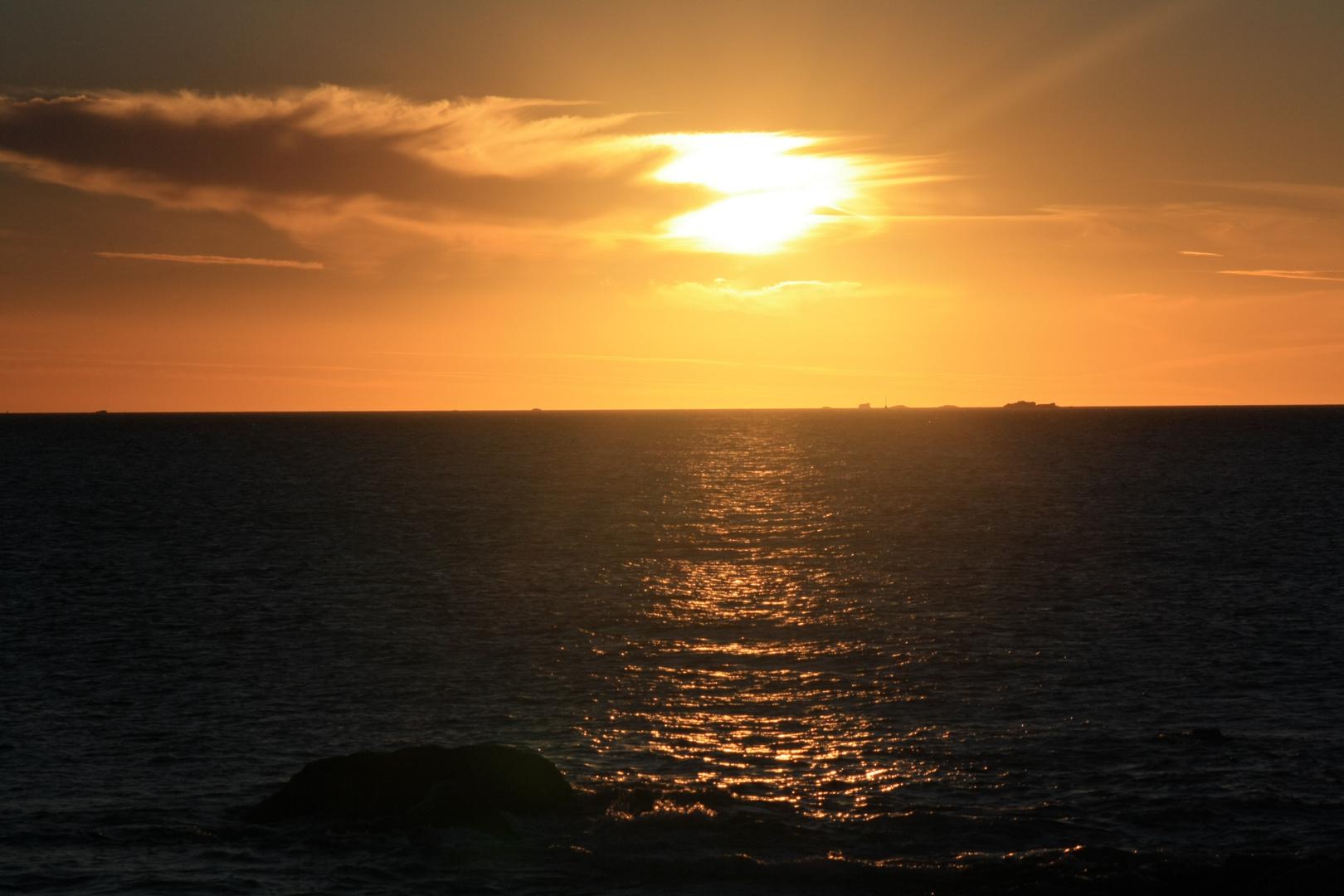 Sonnenuntergang in der Bretagne