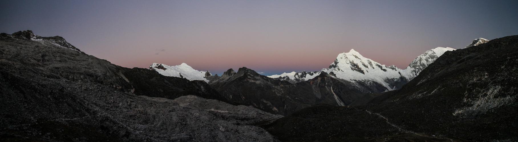 Sonnenuntergang in der Cordillera Blanca