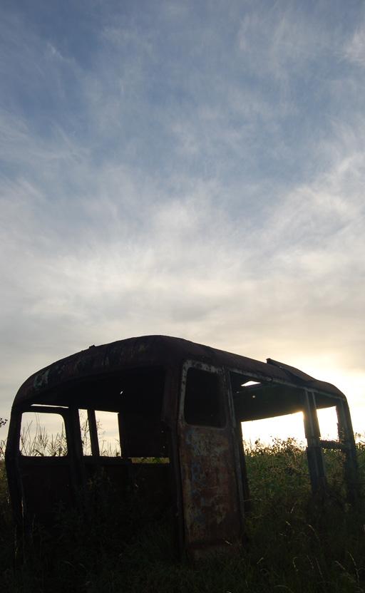 Sonnenuntergang in der Gegend um Nis