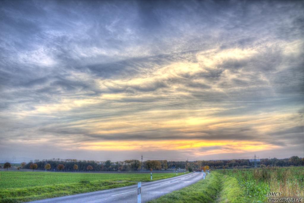 Sonnenuntergang in der Gemeinde Büddenstedt