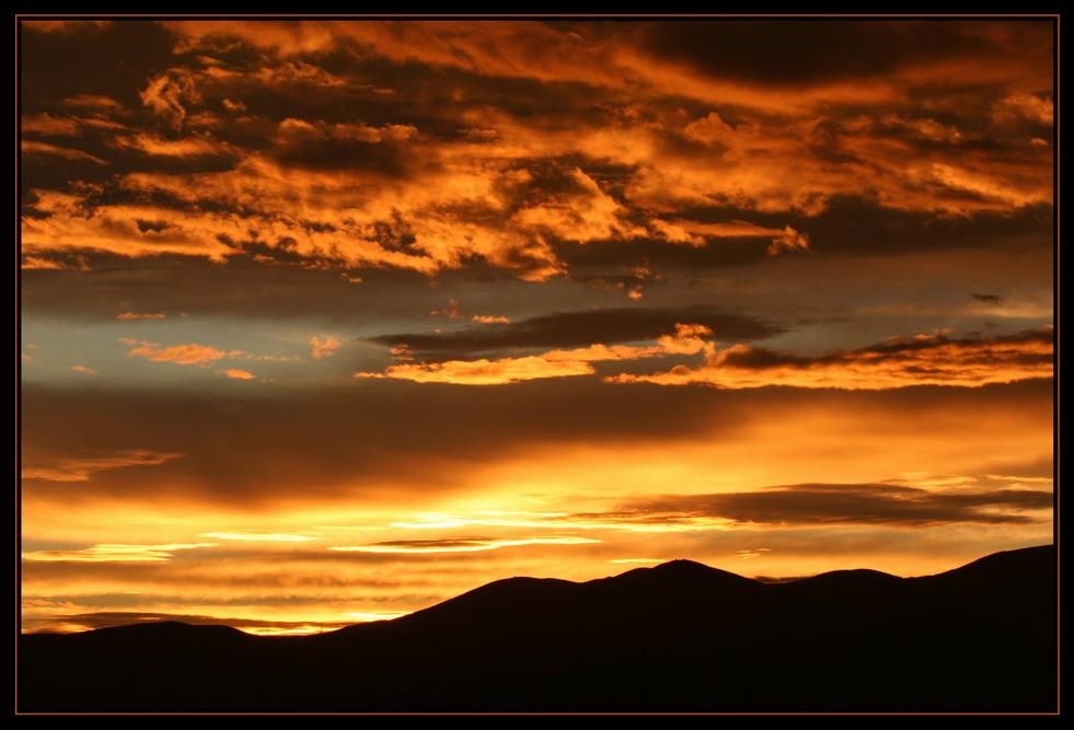 Sonnenuntergang in der Hauptstadt der Mongolei Ulaan Bator
