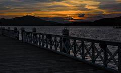 Sonnenuntergang in der Klagenfurter Ostbucht