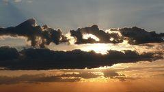 Sonnenuntergang in der Massai Mara (Kenia)
