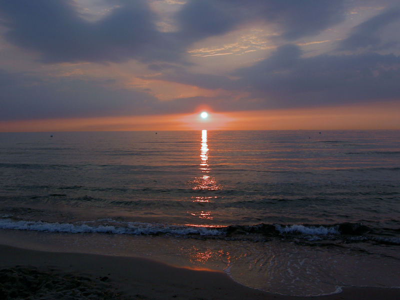 Sonnenuntergang in Dierhagen, Fischland