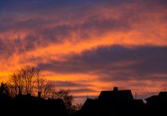 Sonnenuntergang in Dudweiler