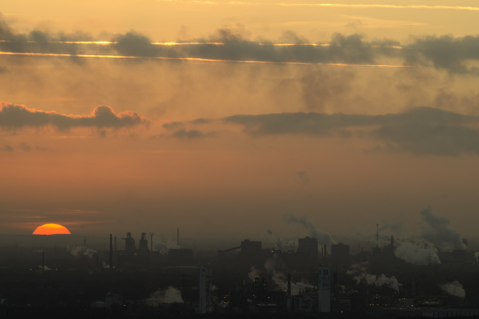 Sonnenuntergang in Duisburg