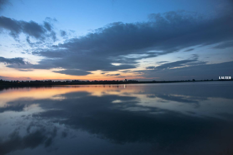 Sonnenuntergang in Erding