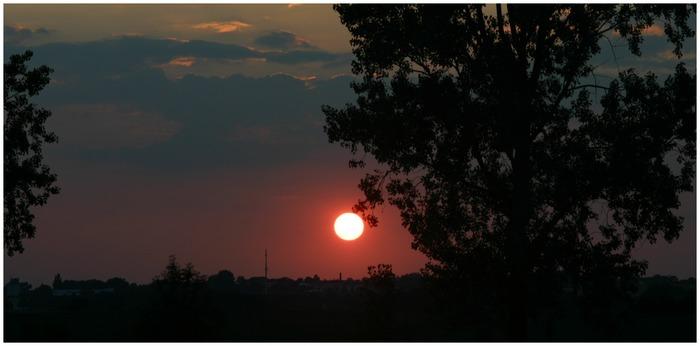 Sonnenuntergang in Evestorf am Deister !