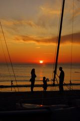 Sonnenuntergang in Familie (HIddensee)