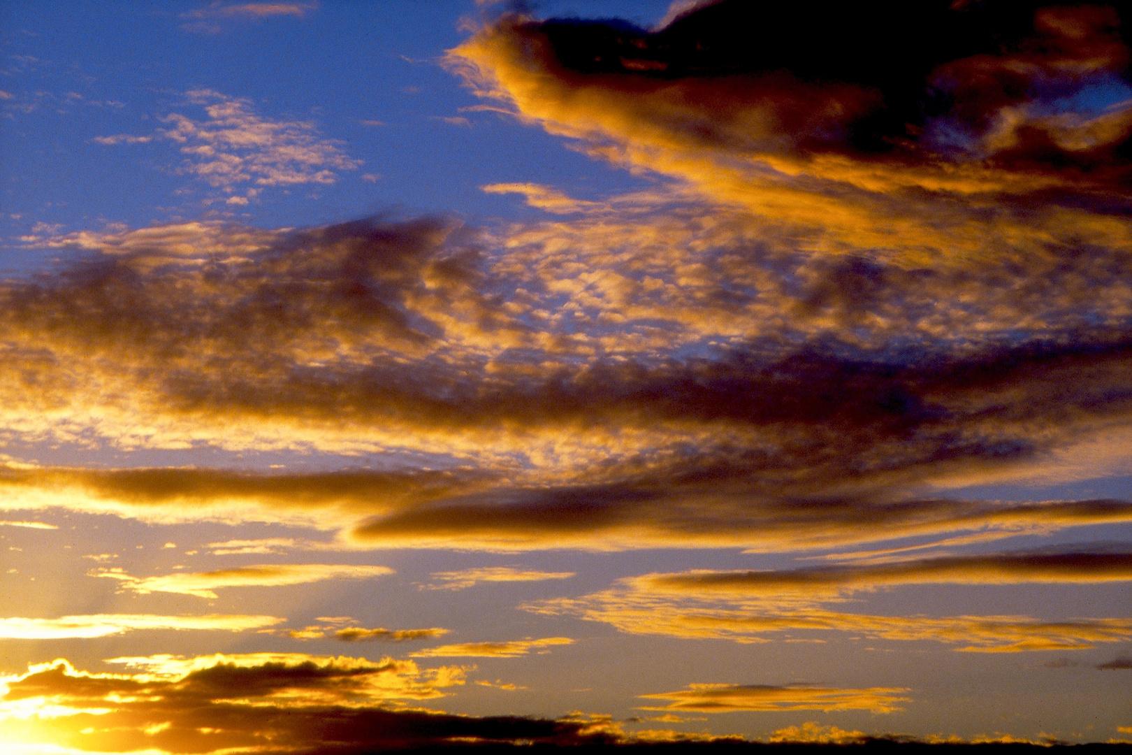 Sonnenuntergang in Feuerland