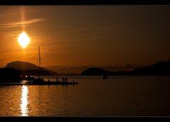 Sonnenuntergang in Florø