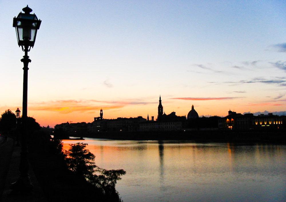Sonnenuntergang in Florenz
