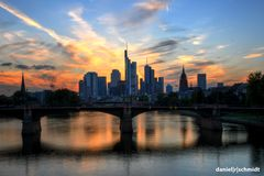 Sonnenuntergang in Frankfurt am Main